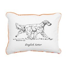 English Setter Rectangular Canvas Pillow