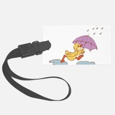 Duck in Rain Luggage Tag
