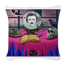 THE SPIRIT OF EDGAR ALLAN POE Woven Throw Pillow