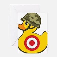 Army Duck Greeting Cards