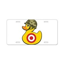 Army Duck Aluminum License Plate
