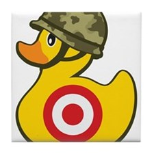 Army Duck Tile Coaster