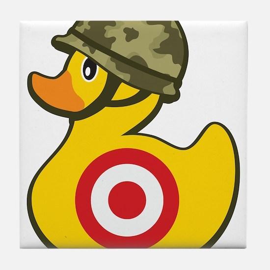 Army Duck Tile Coaster