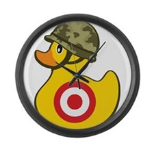Army Duck Large Wall Clock
