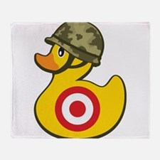 Army Duck Throw Blanket