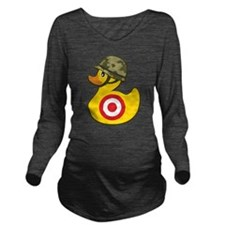 Army Duck Long Sleeve Maternity T-Shirt