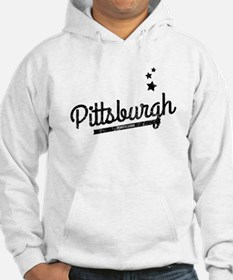 Distressed Retro Pittsburgh Logo Hoodie