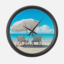 Beach Vacation Large Wall Clock