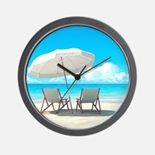 Beach Vacation Wall Clock