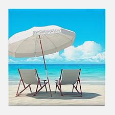 Beach Vacation Tile Coaster