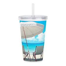 Beach Vacation Acrylic Double-wall Tumbler