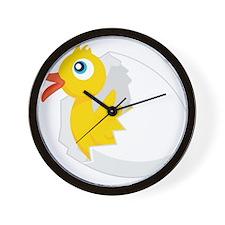 Duck in Egg Wall Clock