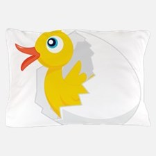 Duck in Egg Pillow Case