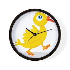Cartoon Rubbe Duckie-2 Wall Clock