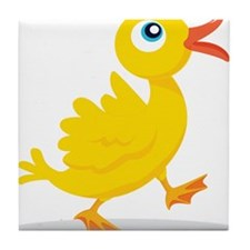 Cartoon Rubbe Duckie-2 Tile Coaster