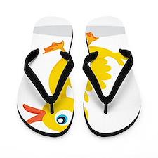 Cartoon Rubbe Duckie-2 Flip Flops