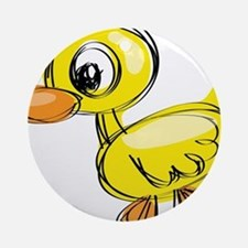 Sketched Duck Ornament (Round)