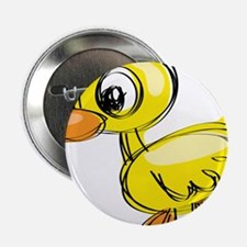 """Sketched Duck 2.25"""" Button"""