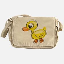 Sketched Duck Messenger Bag