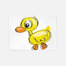 Sketched Duck 5'x7'Area Rug