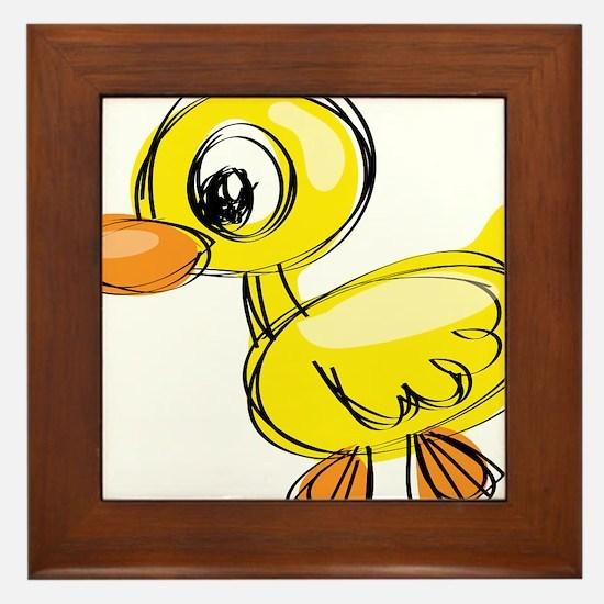 Sketched Duck Framed Tile
