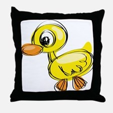 Sketched Duck Throw Pillow