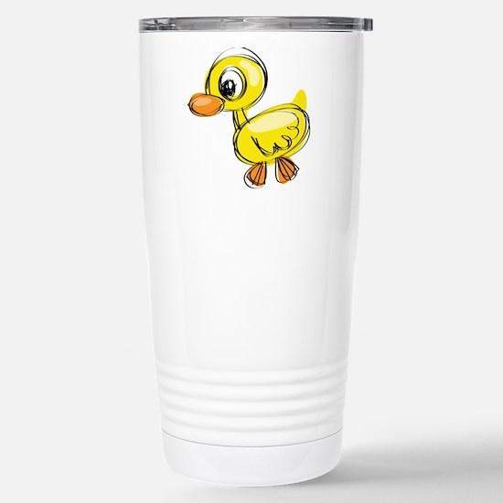 Sketched Duck Travel Mug