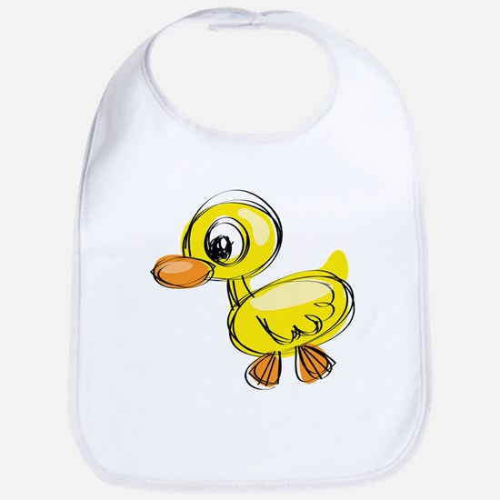Sketched Duck Bib