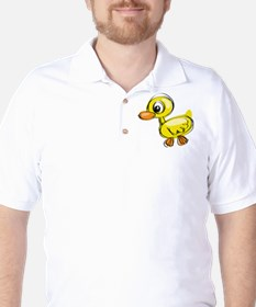 Sketched Duck Golf Shirt