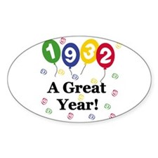 1932 A Great Year Oval Decal