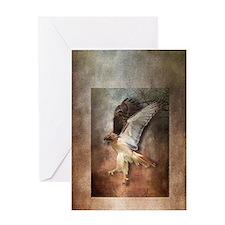 Evening Hawk Greeting Card