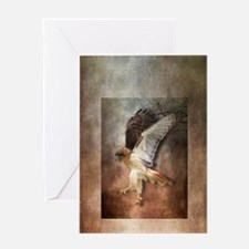 Evening Hawk Greeting Card