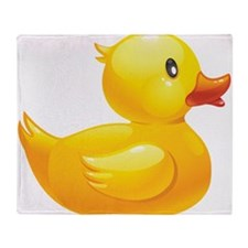 Rubber Duckie Throw Blanket