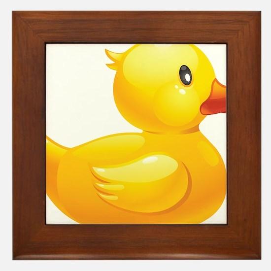 Rubber Duckie Framed Tile