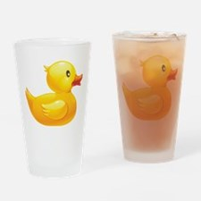 Rubber Duckie Drinking Glass