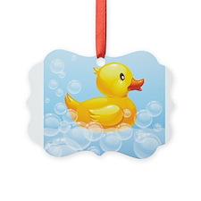 Duck in Bubbles Ornament