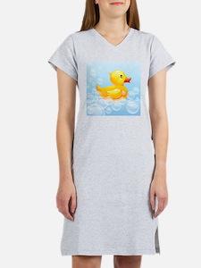 Duck in Bubbles Women's Nightshirt