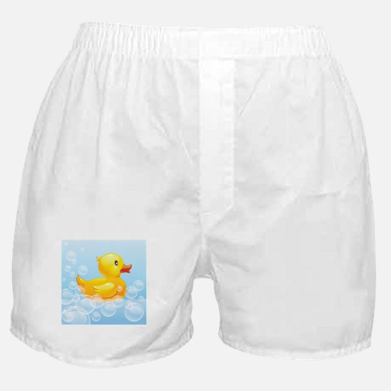 Duck in Bubbles Boxer Shorts