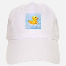 Duck in Bubbles Baseball Baseball Baseball Cap