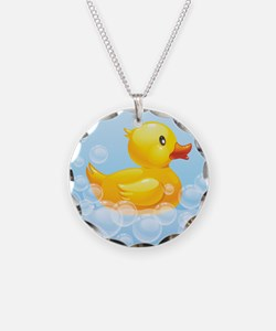 Duck in Bubbles Necklace