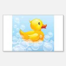 Duck in Bubbles Stickers