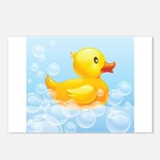 Duck in Bubbles Postcards (Package of 8)