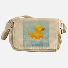 Duck in Bubbles Messenger Bag