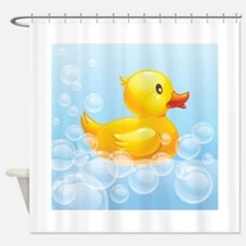 Duck in Bubbles Shower Curtain