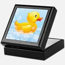 Duck in Bubbles Keepsake Box