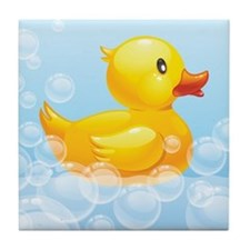Duck in Bubbles Tile Coaster