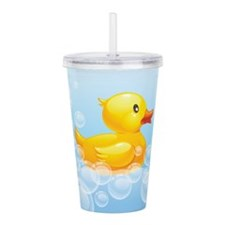 Duck in Bubbles Acrylic Double-wall Tumbler