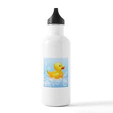 Duck in Bubbles Water Bottle