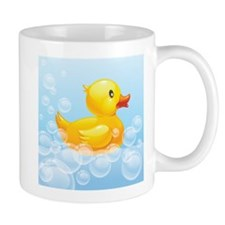 Duck in Bubbles Mugs