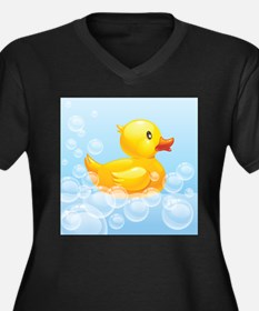 Duck in Bubbles Plus Size T-Shirt